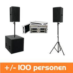 muziekset voor 100 personen huren