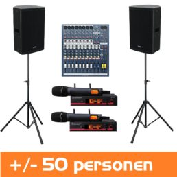 Presentatieset met 2 draadloze microfoons