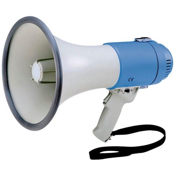 Megafoon 40 watt incl. sirenefunctie huren