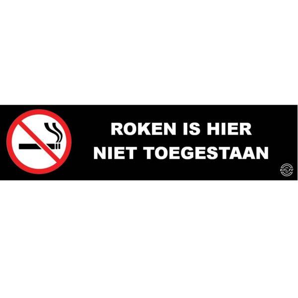 spandoek verboden te roken