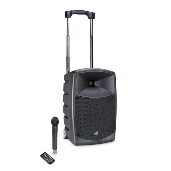 Accu speaker met draadloze microfoon