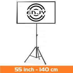 LCD Scherm huren - Verhuur van LED scherm 55 inch - 4K op 3 poot statief huren