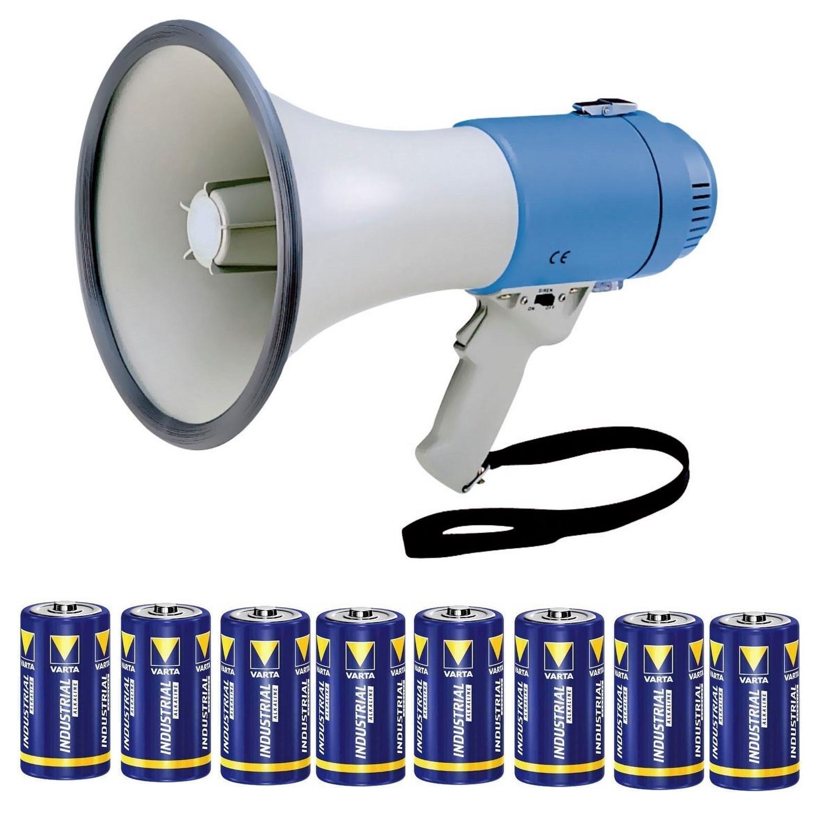 Megafoon 40 watt incl. sirenefunctie huren inclusief batterijen