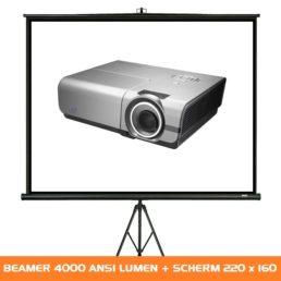 Projectiescherm met beamer huren - Verhuur van beeldset - 4000 ANSI Lumen - 220 x 160 1